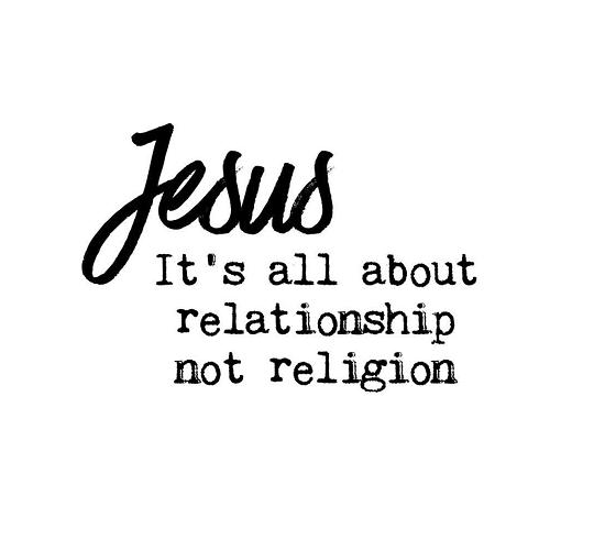 JesusItIsNotAboutReligion